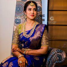 celebrity wedding, blouse ideas, designer blouse Pattu Sarees Wedding, Wedding Saree Blouse Designs, Pattu Saree Blouse Designs, Half Saree Designs, Bridal Lehenga, Bridal Sarees South Indian, Wedding Silk Saree, Indian Bridal Outfits, Indian Bridal Fashion