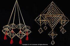 フィンランドの伝統装飾 ヒカリ ト カゲ / tomoko okubo HIMMELI exhibition : migratory-blog Sculpture Art, Sculptures, Mobile Art, Handmade Ornaments, Plant Hanger, Wind Chimes, Fiber Art, Folk Art, Art Projects
