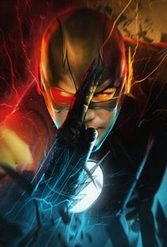 I think the Flash represents every child's dream to run faster than cars, and basically be the fastest person on the Earth. That may be why they like the Flash so much. Flash Barry Allen, O Flash, Flash Art, The Flash Poster, Fantasy Anime, Fantasy Art, Flash Wallpaper, Reverse Flash, The Flash Grant Gustin