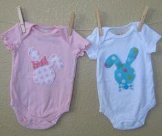 Twins or Siblings Polka Dot Easter Onesie or TShirt by TokenBlonde, $24.00