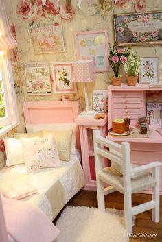 Nerea Pozo Art: ♥ Custom Handmade Diorama SCENT OF ROSES ♥