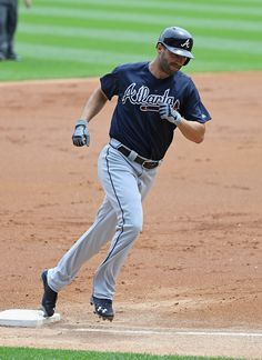 CHICAGO, IL - JULY 10: Jeff Francoeur #18 of the Atlanta Braves runs the bases after hitting a solo home run in the 2nd inning against the Chicago White Sox at U.S. Cellular Field on July 10, 2016 in Chicago, Illinois. (Photo by Jonathan Daniel/Getty Images)