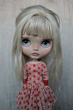 custom Blythe by Sue Dolls on Flickr - dress by Eva