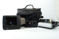 Vintage Polaroid Spectra 1200si Camera with Accessories and Camera Bag