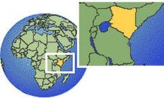 """World map displaying the location of our affiliate Ministry: """"The Bible Studies Ministries Church in: Gucha, Kisii-Kenya - See: www.hebrews113evangelisticministriesinc.net for full_length Video."""