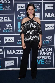 Neve Campbell on Watch What Happens Live with Andy Cohen, June 2017. Navy Blue carpet runner provided by Red Carpet Entrances. Photos from Guest Dressed: June 2017 album. Courtesy of Bravo TV / NBCUni. Be sure to tune in for more celebrity appearances!
