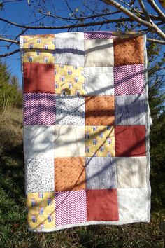 Fox and Arrow Baby Quilt by laruedefleurs on Etsy