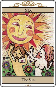 自作タロットカード「太陽」