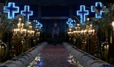 I kind of like the idea of a Baz Luhrmann aesthetic for this event.  A lot of candle use.
