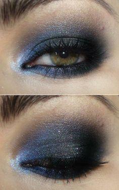Make azul furta-cor, preto e chumbo!