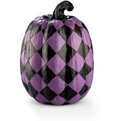 """Improvements Harlequin Halloween Pumpkin-10"""" ($25) ❤ liked on Polyvore featuring home, home decor, holiday decorations, halloween, pumpkins, fall, filler, holiday, fall decor and fake pumpkins"""
