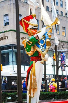 Giant toy soldier at Rockefeller Center, NYC.