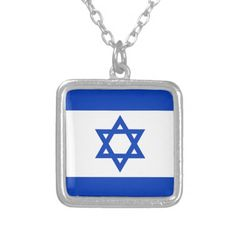 Israel Flag Pendant!  #new #flag #zazzle #store #gift #shop #customize #home #apparel #office http://www.zazzle.com/flagsbydww25921*