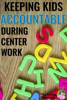 Keeping Kids Accountable During Centers - Guest post on Who's Who and Who's New by Mrs. Beattie's Classroom