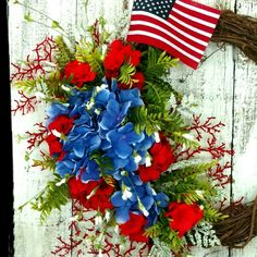Beautiful selection of Patriotic Wreaths at 102 Design Studio on Etsy.