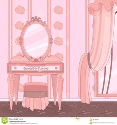 dressing-room-elegant-beautiful-pink-princess-bedroom-48125493.jpg (1300×1390)