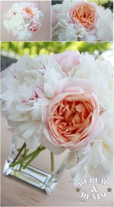 White Peonies and Blush Pink Roses