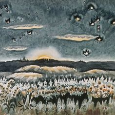 "Even without the title, there's another clue in Charles Burchfield's ""December Moonrise"" (1959) as to the month - these constellations are only seen together in the month of December."