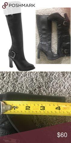 Black knee high Vera wang boots Vera Wang Lavender Walden High Shaft High Heel Boots size  10 Heel height: 4 1/4 inch heel. Worn 2-3 times. No scuffs or scrapes Vera Wang Shoes Heeled Boots
