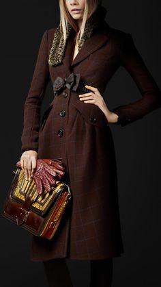 Burberry Prorsum Autumn/Winter 2012 Virgin Wool Tailored Top Coat