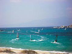 Windsurfing on the isle of Naxos!