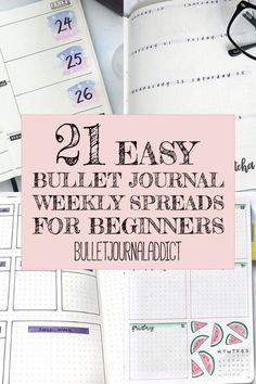Bullet Journal Weekly Spreads for Beginners - Bullet Journals For Beginners - Easy Bullet Journal Weekly Spreads - Minimalist Weekly Spreads - 21 Easy Bullet Journal Weekly Spreads For Beginners Bullet Journal Numbers, Bullet Journal Teacher, Bullet Journal Topics, Bullet Journal Easy, Bullet Journal Layout Templates, December Bullet Journal, Bullet Journal For Beginners, Bullet Journal Monthly Spread, Bullet Journal Ideas Pages