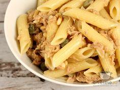 Paste cu ton Pasta Recipes, Chicken, Meat, Food, Essen, Meals, Yemek, Eten, Cubs