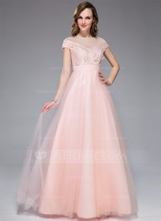 Prom Dresses - $139.99 - A-Line/Princess Off-the-Shoulder Floor-Length Tulle Lace Prom Dress With Beading Flower(s) Sequins (018044993) http://jjshouse.com/A-Line-Princess-Off-The-Shoulder-Floor-Length-Tulle-Lace-Prom-Dress-With-Beading-Flower-S-Sequins-018044993-g44993