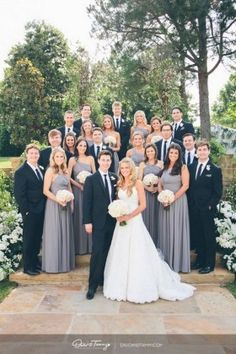 not just bridesmaids down one side and groosmen on the othe wedding photo ideas