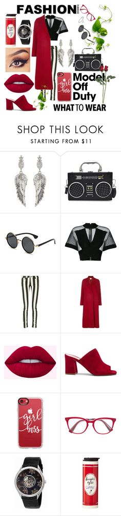"""""""High Street Fashion"""" by vanyaraina on Polyvore featuring House of Harlow 1960, Balmain, Off-White, Forte Forte, Maryam Nassir Zadeh, Casetify, Vacheron Constantin and Kate Spade"""