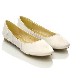 Essex Glam - Damen Satin Ballerinas - Satin, 3 UK / 37 EU / 5 US, Weiß Satin - http://on-line-kaufen.de/essex-glam/37-eu-3-uk-5-us-essex-glam-damen-satin-ballerinas-4