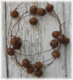 So many uses for a rusty bell garland!  $5.09 from Kim's Primitives!
