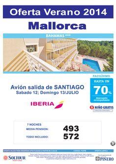 Mallorca: Hasta 70% Hotel Bahamas salidas desde Santiago de Compostela ultimo minuto - http://zocotours.com/mallorca-hasta-70-hotel-bahamas-salidas-desde-santiago-de-compostela-ultimo-minuto/