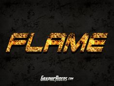 GRAPHICRIDERS | Action style – Flame (free psd file)