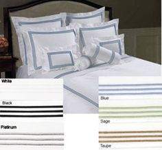 @Overstock - Update your bedroom decor with a Hotel Collection duvet cover set Set includes duvet cover and two pillow shams Bedding features a 300 thread count constructionhttp://www.overstock.com/Bedding-Bath/Hotel-Collection-300-Thread-Count-Sateen-Duvet-Cover-Set/3619576/product.html?CID=214117 $49.99