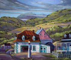 """Vladimir Horik - """"La vieille forge"""" (1988) - Les Collectionneurs Associés #AsArtColl #AssociatedArtCollectors Oil Canvas, Cottage Art, Z Arts, House Art, Back In The Day, Landscape Art, Artworks, Art Ideas, Science"""
