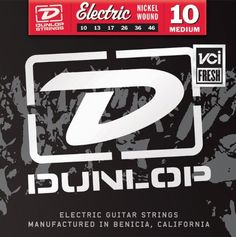 Znakomite struny Dunlop.