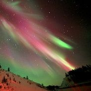Aurora Borealis Nov. 14, Whitehorse, Yukon Ter. Canada...unusual red