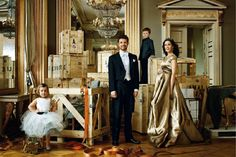 HRH Crown Prince Frederik, Crown Princess Mary, Prince Christian, and Princess Isabella are featured in an editorial in the January 2011 issue of Vogue Germany photographed by Marc Hom.  Crown Princess Mary is wearing a gown by Talbot Runhof from their Spring 2011 collection.