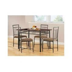 5 Pc Dining Set Dinette Breakfast Nook Room Kitchen Table Chairs Seat Dinners  #Mainstays