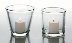 clear elegant glass votive candle holder to set the ambiance