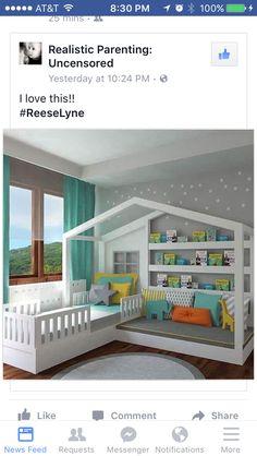 Toddler House Bed, Toddler Rooms, Diy Toddler Bed, Toddler Boy Room Ideas, House Beds For Kids, Bed For Kids, Cool Kids Beds, Toddler Beds For Boys, Boy Toddler Bedroom