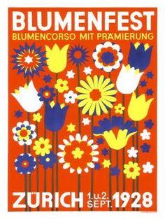 Blumenfest Zurich poster 1928  buttercupbungalow.blogspot.com.au