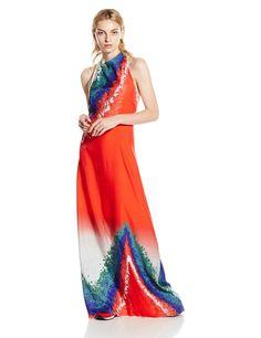 Amazon.com: Baja East Women's Tye Dye Print Halter Dress: Clothing