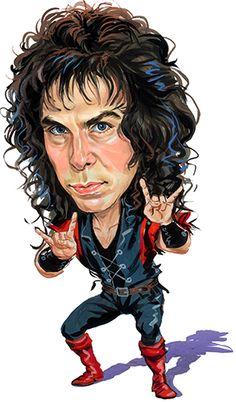 Ronnie James Dio Cartoon