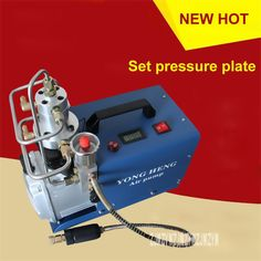 (246.36$)  Watch here  - New 220V / 110V Set Pressure Section Electric High Pressure Air Pump Water Cooling Single Cylinder 0-30MPa 50L / min 1.8KW Hot