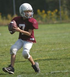 Help, my kid plays football and I haven't got a clue!    This information is by no means comprehensive, but it'll get you started.  Remember, there's no point in getting overwhelmed.  You just need to know enough to pay attention and be able to toss...