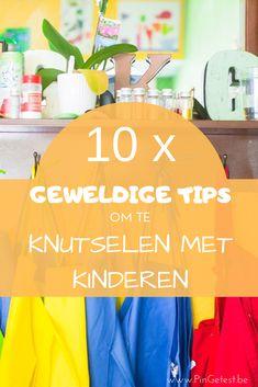 10 geweldige tips om te knutselen met kinderen #knutselen #knutselenmetkinderen #kinderen #tips #knutselblog Recycled Materials, Family Life, Arts And Crafts, Kids Crafts, Art For Kids, Blog, Diy, School, Crafting