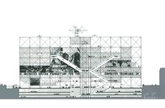 Richard Rogers   The Centre Pompidou Signed screenprint on archival paper