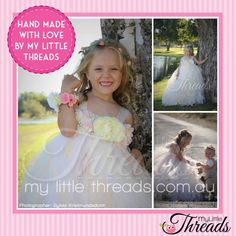 Are you getting MARRIED and looking for a BEAUTIFUL FLOWER GIRL DRESS?!!??? We are now taking orders for our Gorgeous 'Julietta' Bridesmaid's Dress, has lots and lots of tulle.... This is a hand made item, made to order. The images shown may vary slightly.